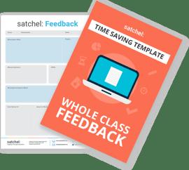Whole class feedback template for teachers