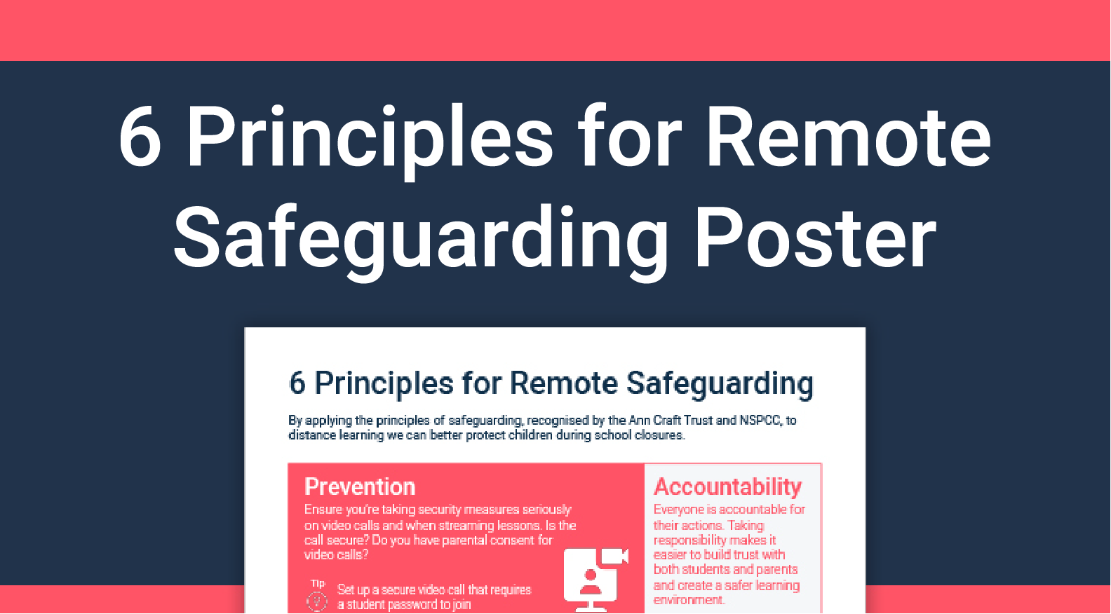 6 Principles Remote Safeguarding Poster RC Thumbnail-01