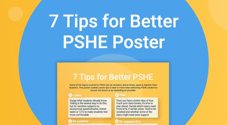 7 PSHE Tips Poster