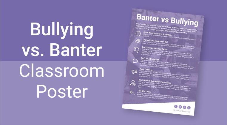 Bullying vs Banter Poster