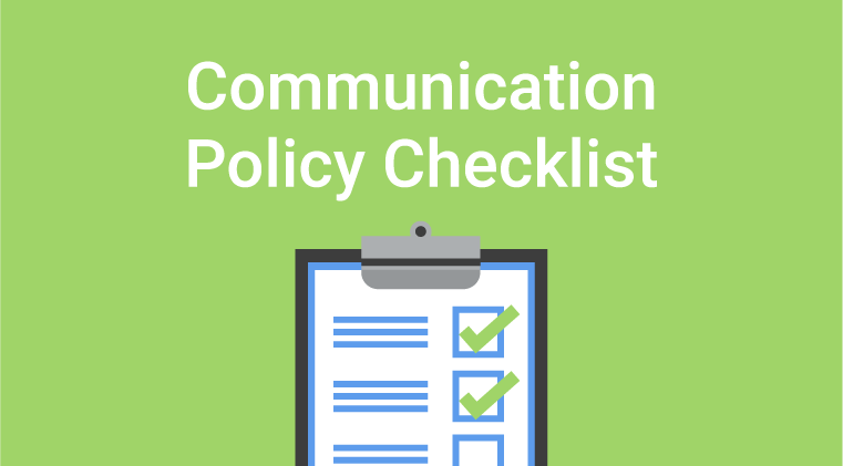 Communication Policy Checklist