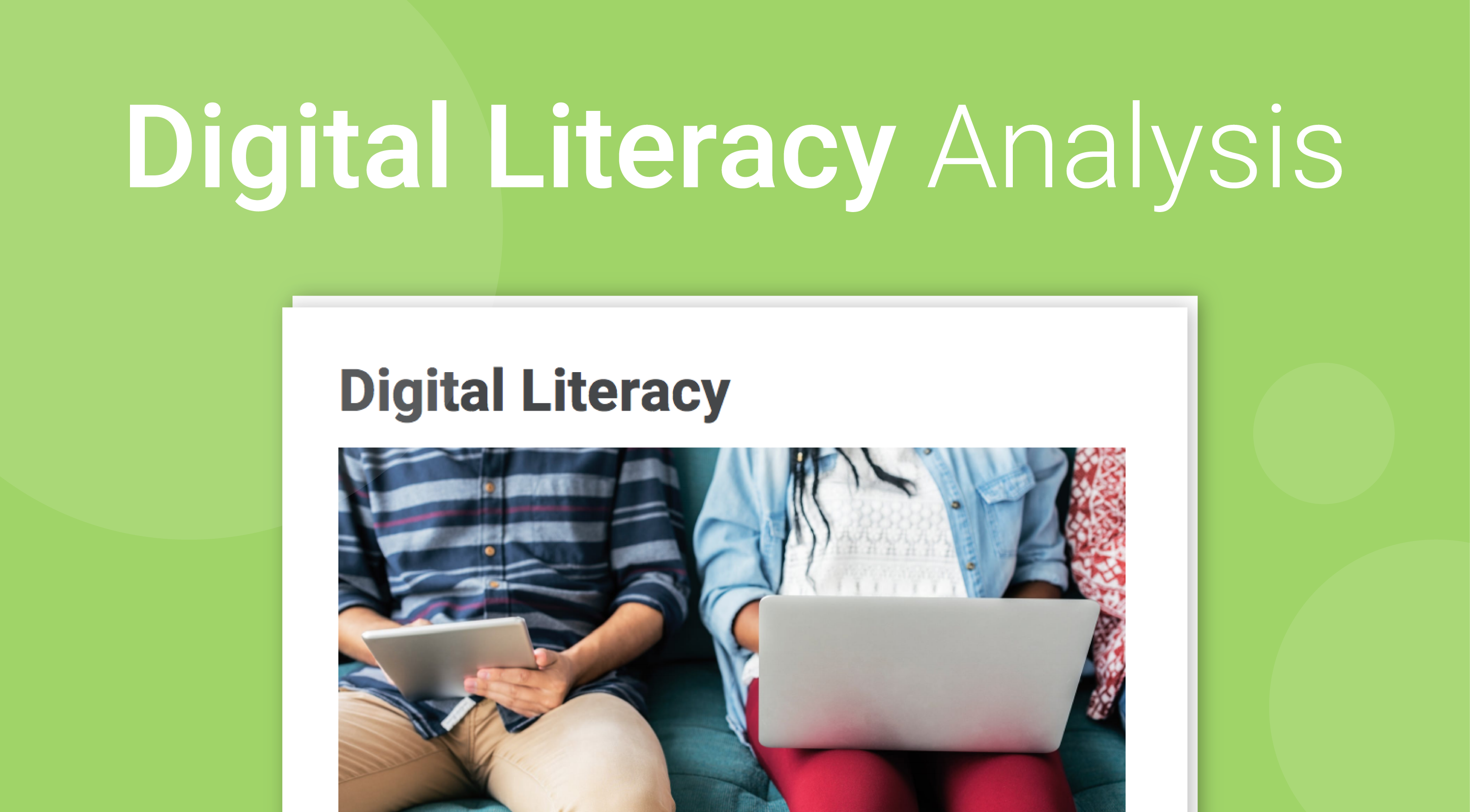 Digital Literacy Analysis