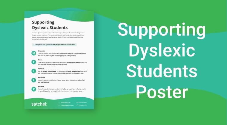 Dyslexic Students Poster