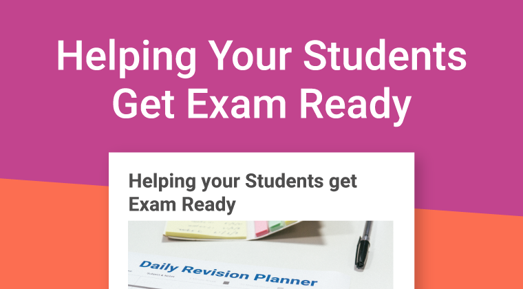 Helping Your Students Exam Ready