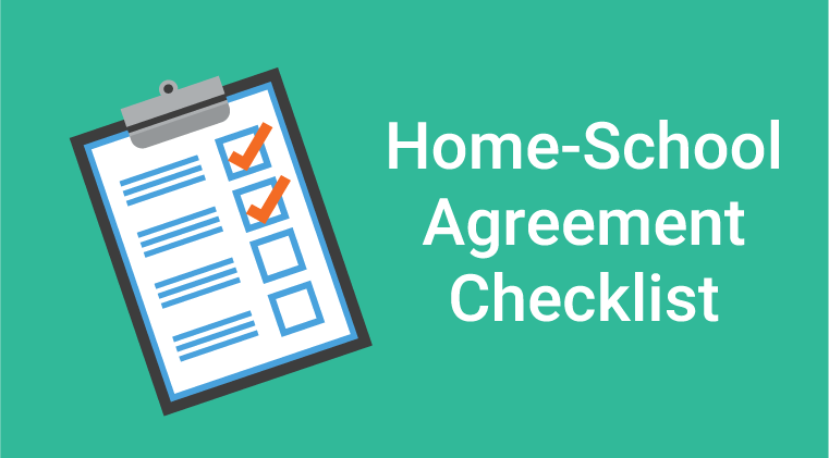Home-School Agreement Checklist