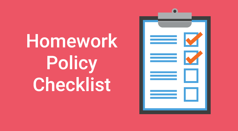 Homework Policy Checklist