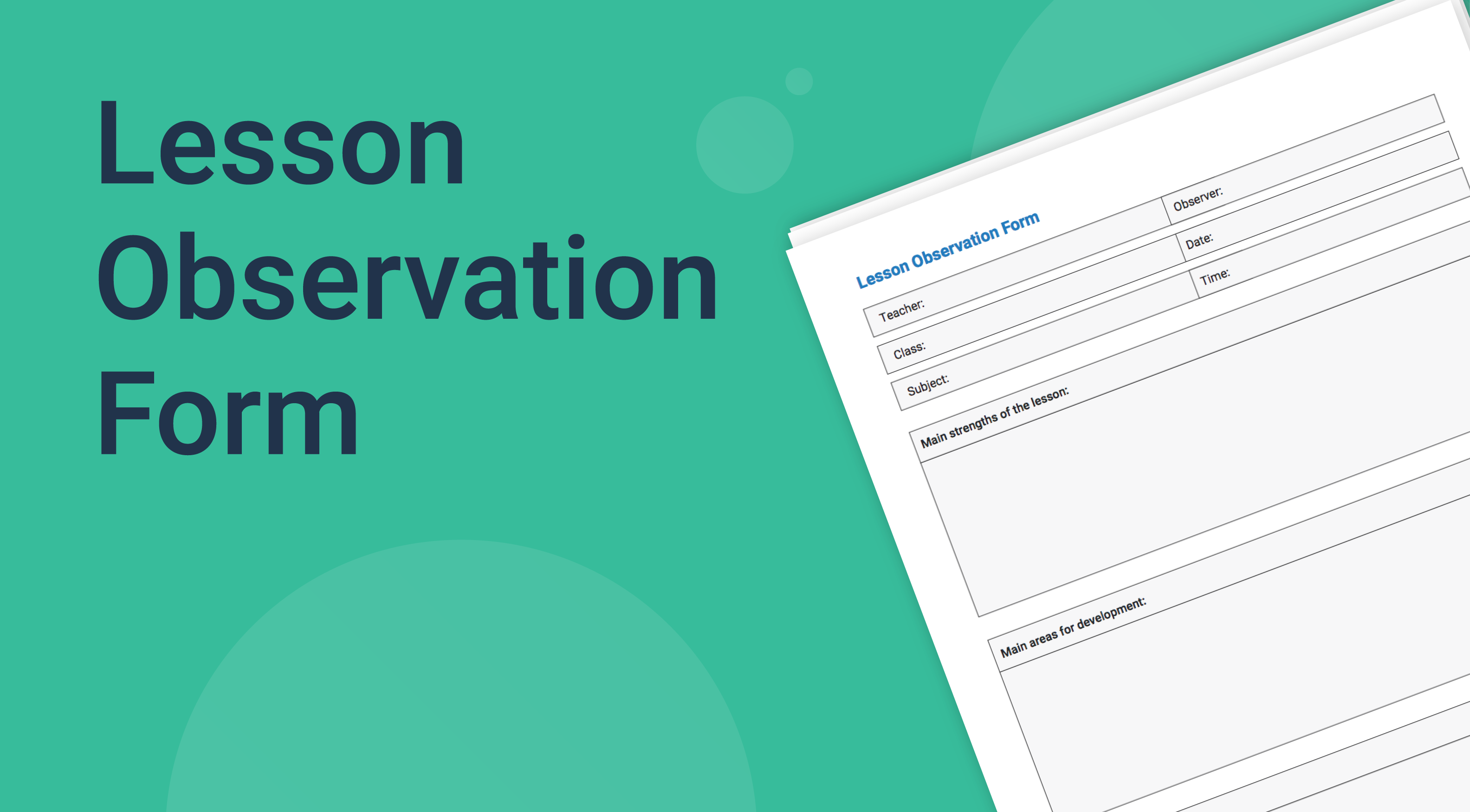 Lesson Observation Form