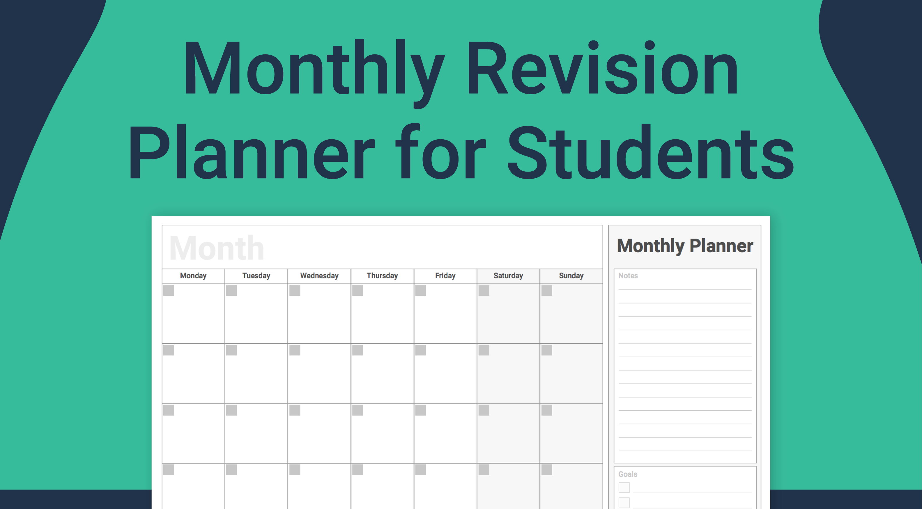 Monthly Planner RC Thumbnails