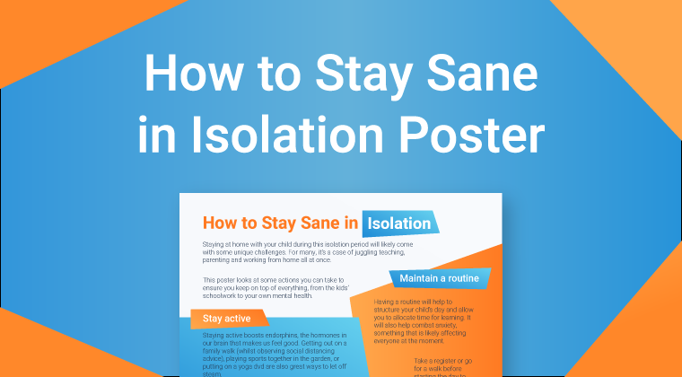 Parents: How to Stay Sane in Isolation Poster