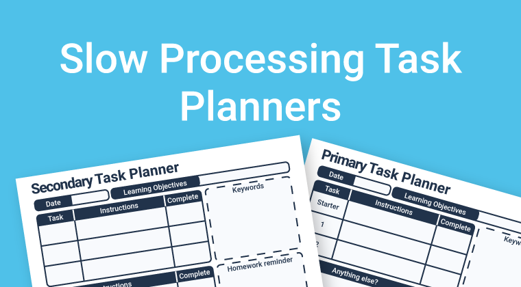 Slow Processing Planners