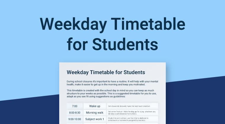 Student Timetable Template RC Thumbnail