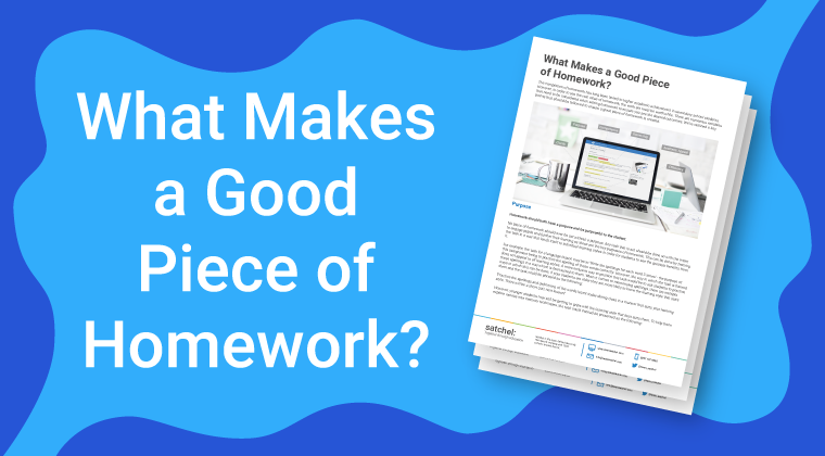 What Makes a Good Piece of Homework?