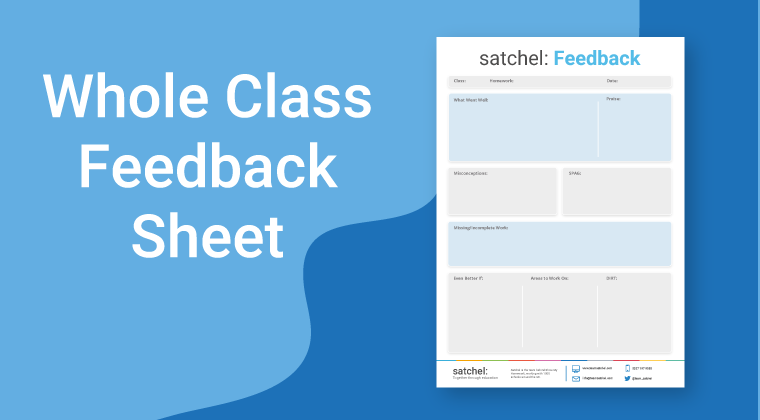 Whole Class Feedback Sheet